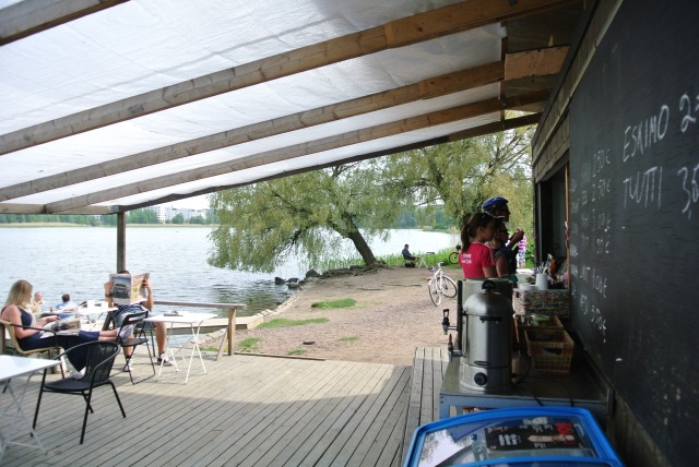 Here's another cafe on the opposite shore. There was also a restaurant, but we were too full of cheese.