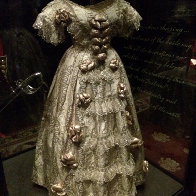 This is Queen Victoria's wedding dress -- how amazing is this?