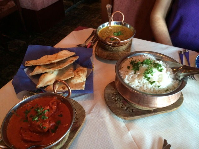 A quick photo of Maharaja -- it's supposed to be the best Indian in Helsinki (according to TripAdvisor). We ordered chicken tikka masala and dal makhani to share; it was pretty good, although my mother-in-law's dal is better!
