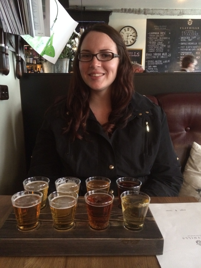 Lunch included a beer flight.